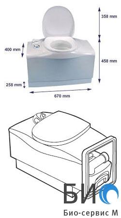 Биотуалет кассетный C-402 C